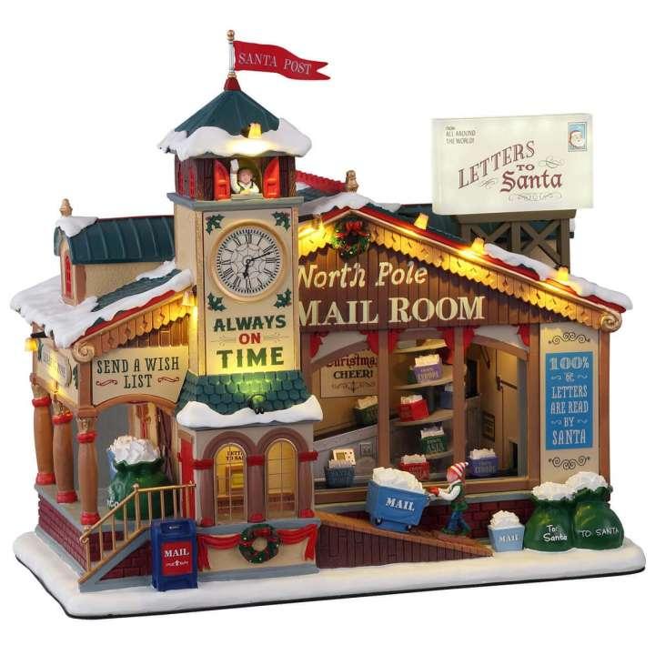 Lemax north pole mail room kersthuisje nieuw in 2021