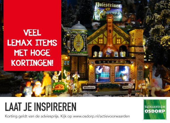 Goedkope kersthuisjes, figuren en accessoires van Lemax
