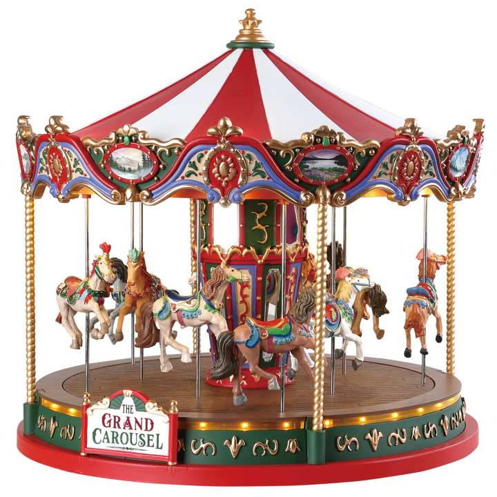 The grand Carousel draaimolen van Lemax