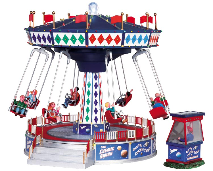 The Cosmic swing zweefmolen uit de Lemax Village collectie