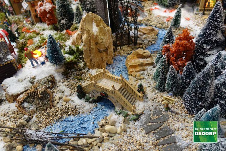 Voorbeeld mooi landschap voor je kerstdorp bij tuincentrum Osdorp