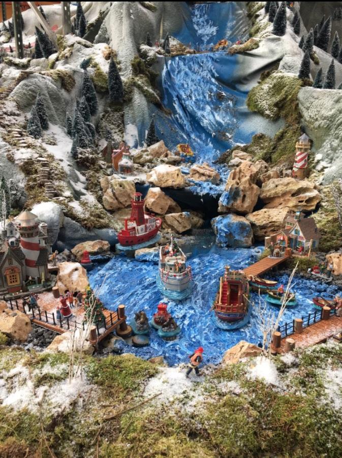 Details van de Lemax plymouoth corner haven in mini-dorp bij osdorp
