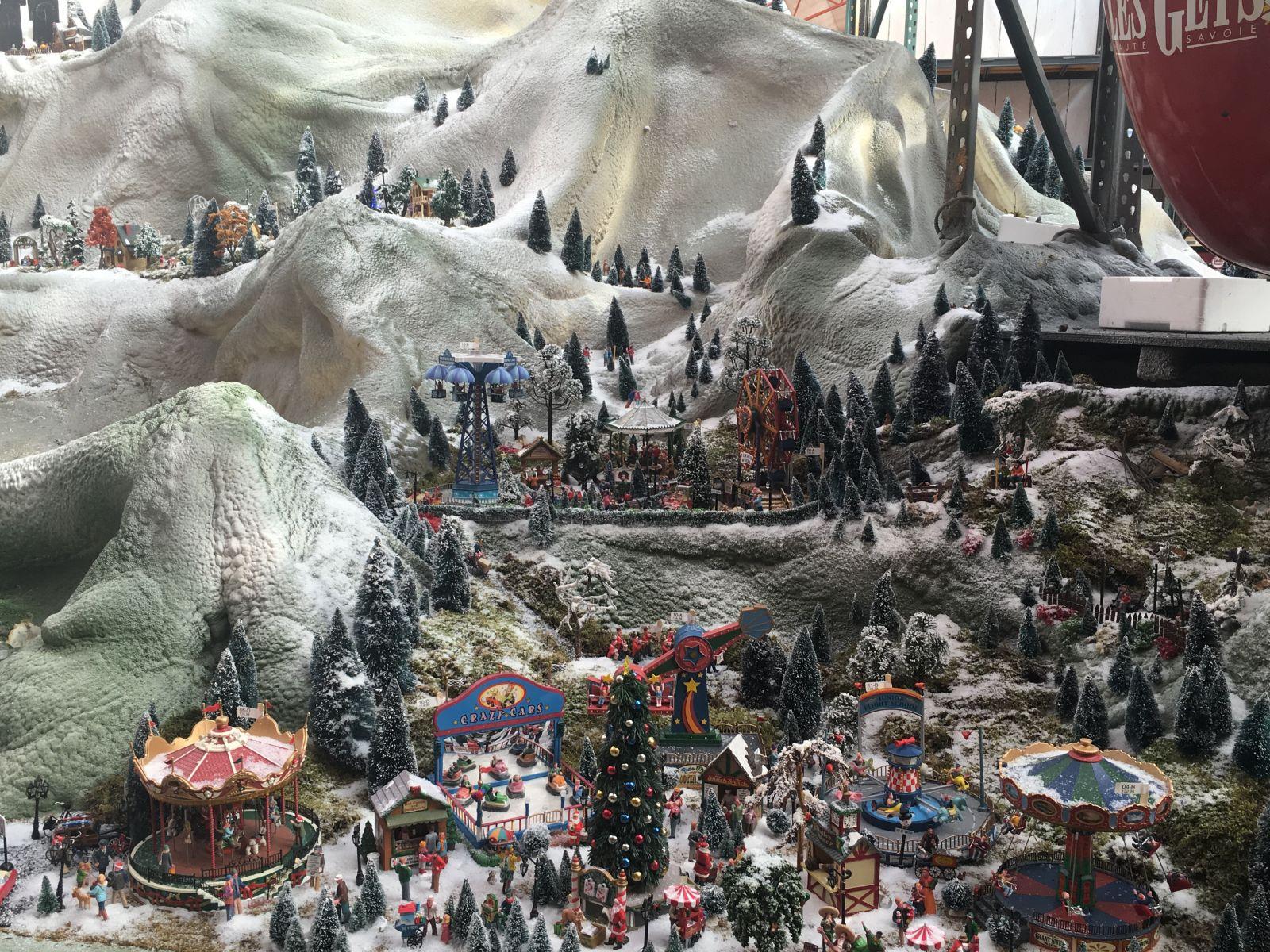 Basis van uw kerstdorp
