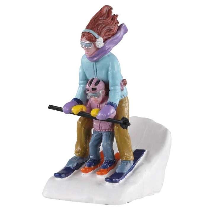 Mommy and Me ski Lemax kerstdorp figuur nieuw in 2020