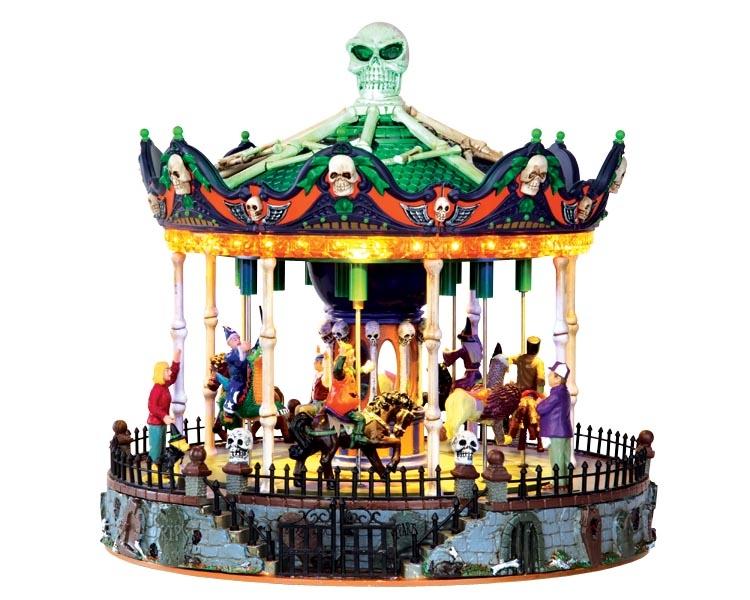 Lemax Scary Go Round draaimolen voor een mini Halloween dorp