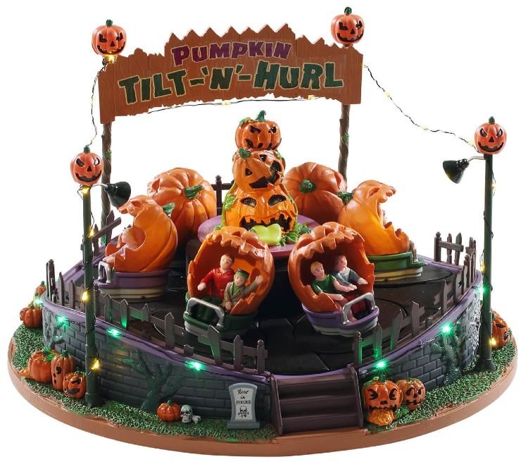 Lemax Tilt N Hurl draaimolen uit de Spooky Town Collectie