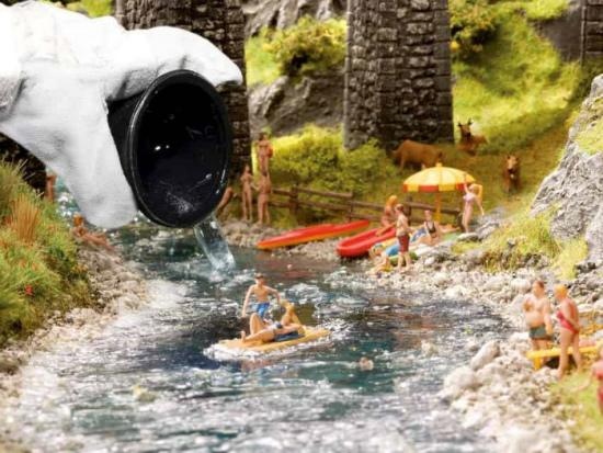Water maken met Noch water drops easy voor je kerstdorp