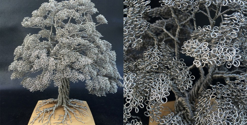 Zelf bomen maken voor je kerstdorp met ijzerdraad