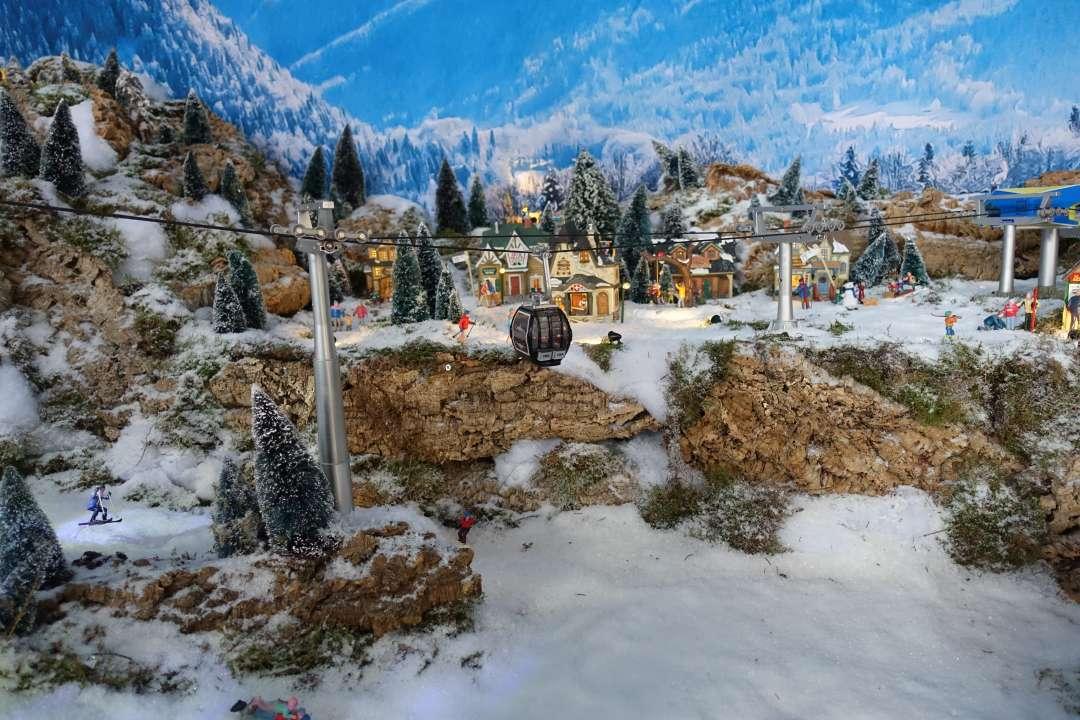 Hoe achtergrond maken voor een kerstdorp?