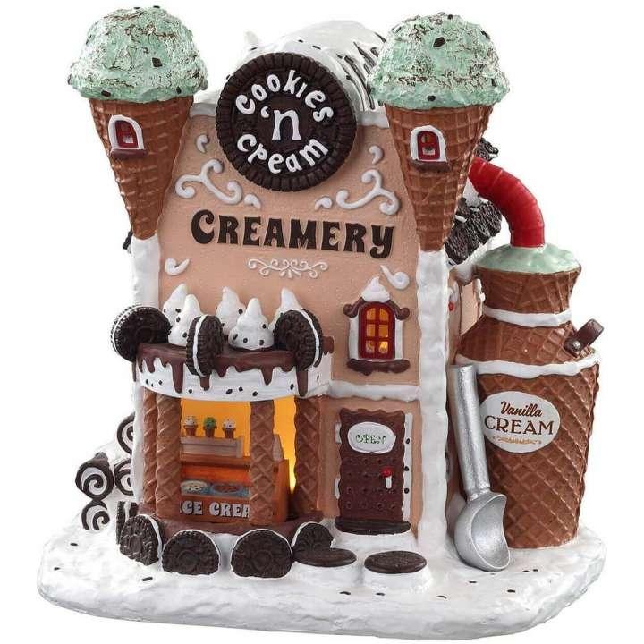 Lemax cookies 'n cream creamery kersthuisje nieuw in 2021