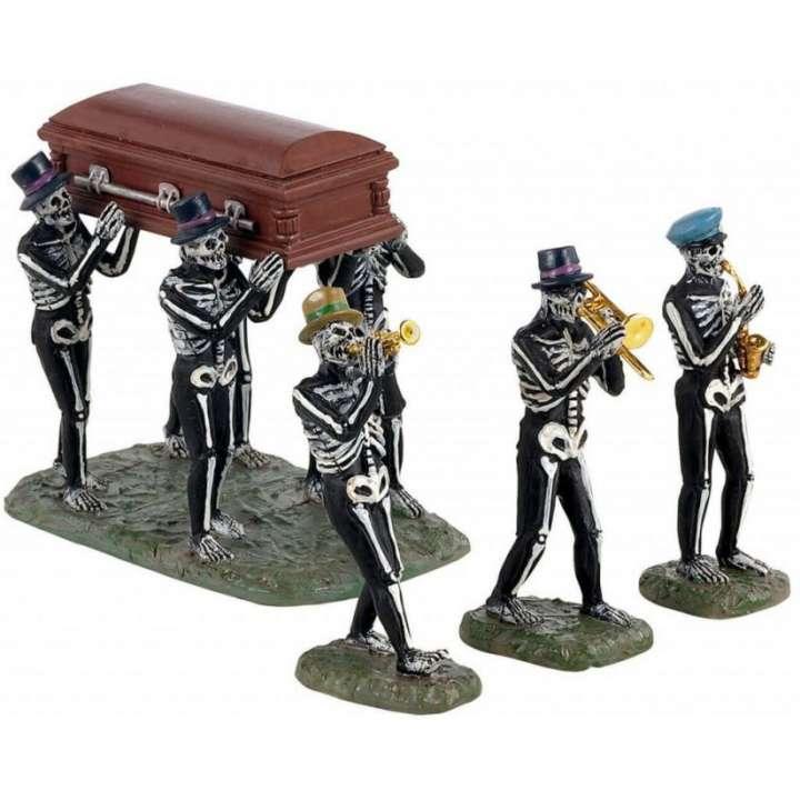 Lemax jazz funeral Spooky Town skeletten nieuw in 2021