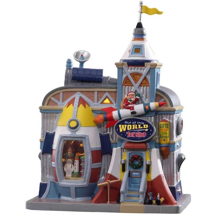 Lemax out of this world toy shop kersthuisje nieuw in 2021