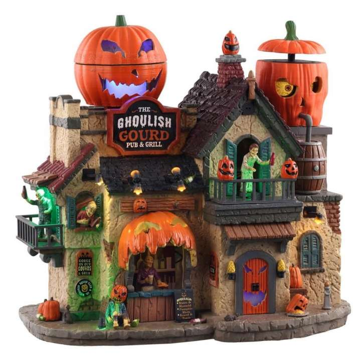 Lemax the ghoulish gourd pub & grill Halloween huisje