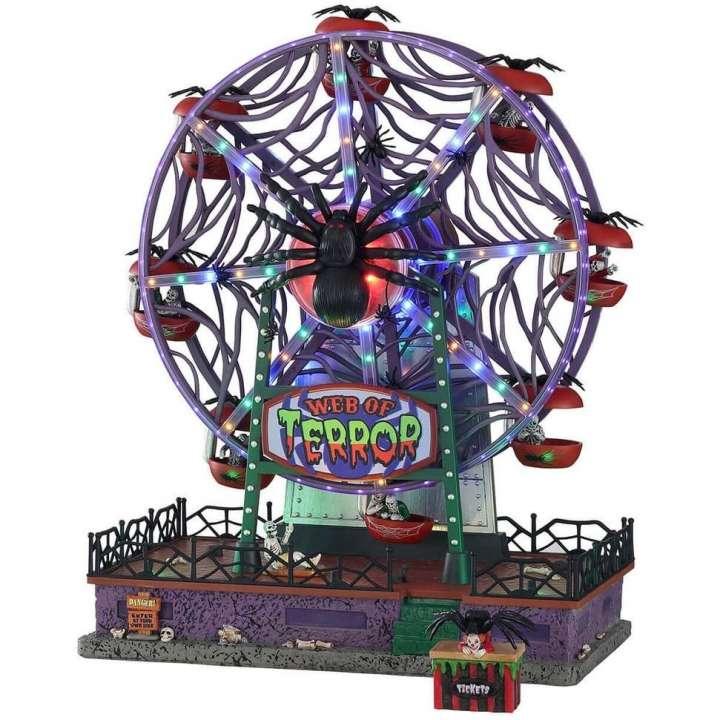 Lemax Web of Terror Ferris Wheel reuzenrad