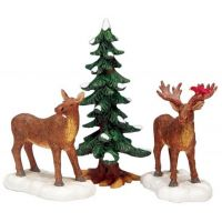 Lemax mr and mrs moose s/3 kerstdorp figuur type 3 2003