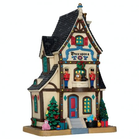 Lemax once upon a toy verlicht kersthuisje Caddington Village 2016 - afbeelding 1