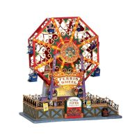 Lemax Victorian flyer ferris wheel bewegend kersthuisje Caddington Village 2014