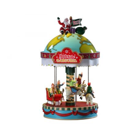 Yuletide carousel uit de Lemax Village collectie